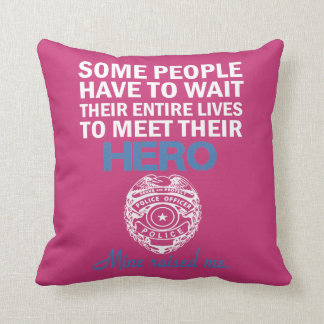 POLICE OFFICER'S DAUGHTER CUSHION