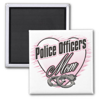 Police Officers Mom Square Magnet