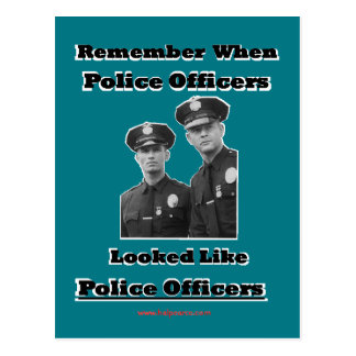 Police Officers Postcard