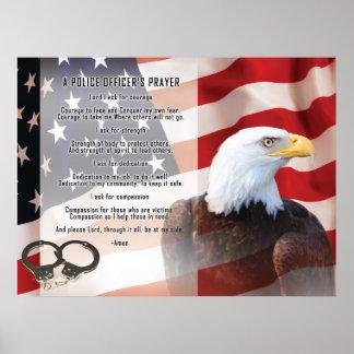 Police Officers Prayer Poster