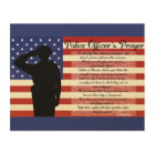 Police Officer's Prayer Wood Canvas