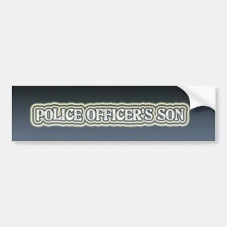 Police Officer's Son Bumper Sticker