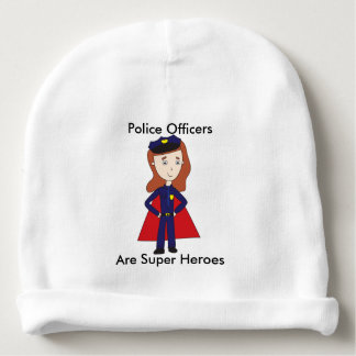 Police Officers Super Heroes (Female) Baby Beanie