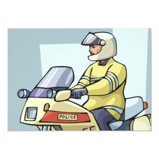 Police On A Motorbike Invitations