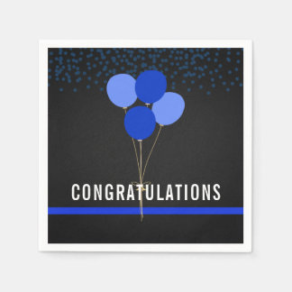 Police Party Themed Congratulations Paper Napkin