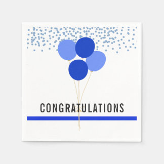 Police Party Themed Congratulations White Paper Napkins