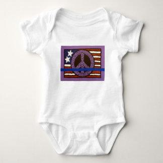 Police Peace Sign. Baby Bodysuit