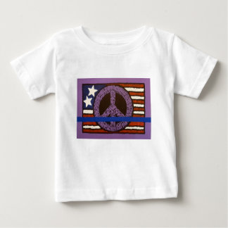 Police Peace Sign. Baby T-Shirt