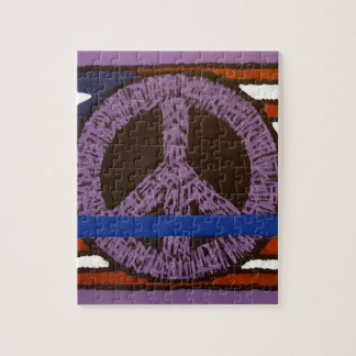 Police Peace Sign. Jigsaw Puzzle