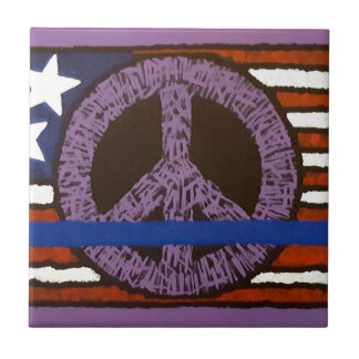 Police Peace Sign. Tile