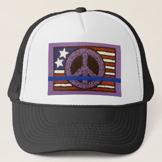 Police Peace Sign. Trucker Hat