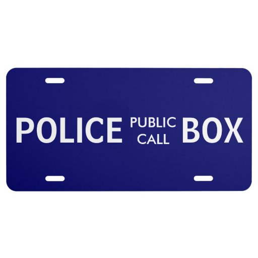 Police Phone Box Public Call License Plate