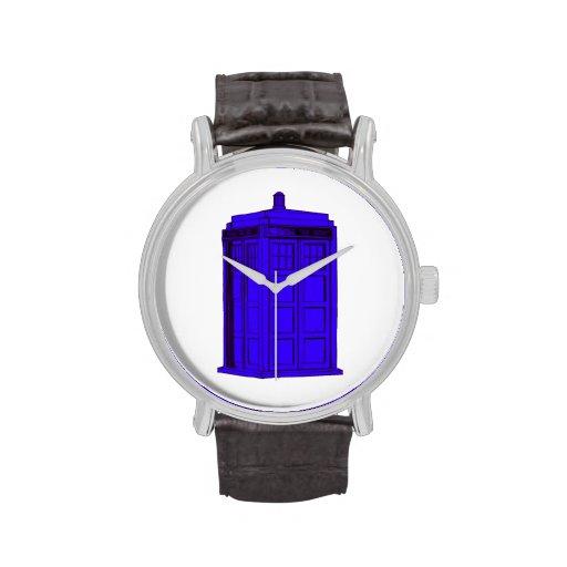 Police Phone Box Timepiece Wrist Watch