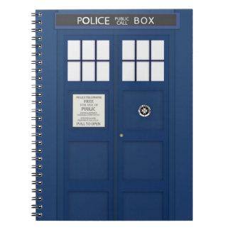 Police Phone Call box School Notebook