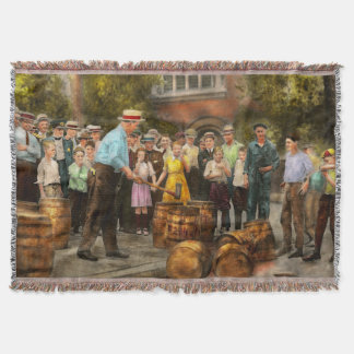 Police - Prohibition - A smashing good time 1921 Throw Blanket