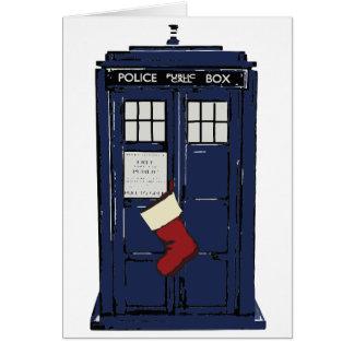 Police Public Call Box Christmas Card
