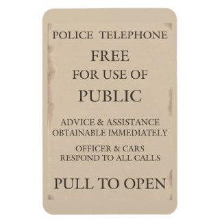 Police Public Call Phone Box Notice Flexible Magnet
