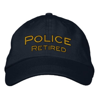 Police Retired Embroidered Hats