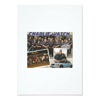 Police Retirement Party 13 Cm X 18 Cm Invitation Card