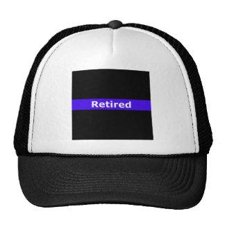 Police Retirted Thin Blue Line Mesh Hat