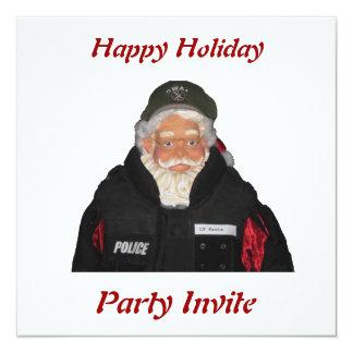 Police Santa Party Invitation