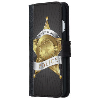 Police Security Badge iPhone 6 Wallet Case