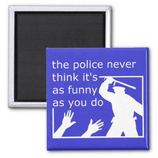 Police Sense Of Humor Funny Magnet