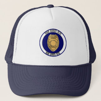 Police Sergeant Badge Custom Trucker Hat