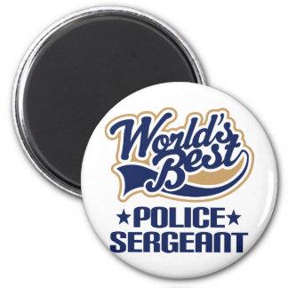 Police Sergeant Gift 6 Cm Round Magnet