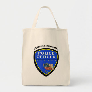 Police Serving Proudly Tote Bag
