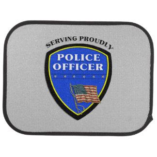 Police Serving Proudly Floor Mat