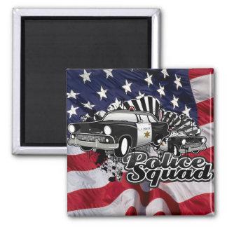 Police Squad Square Magnet