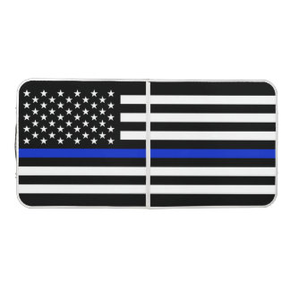 Police Styled American Flag Beer Pong Table