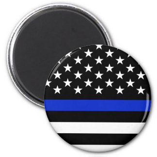 Police Styled American Flag. Magnet