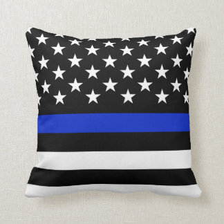 Police Styled Wide American Flag Cushion
