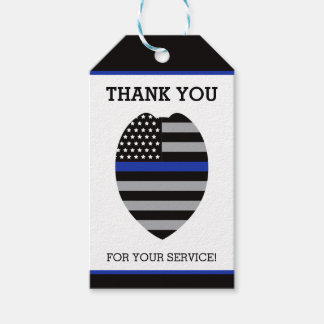 Police Thank You Tag, Thin Blue Line Gift Tags