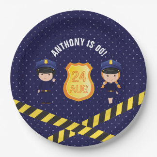 Police themed Birthday Party personalized Paper Plate