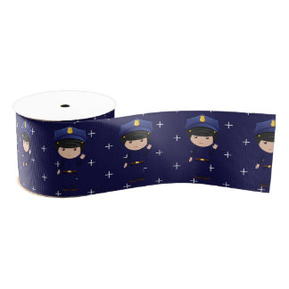 Police themed Cops and Robbers Birthday Party Grosgrain Ribbon