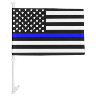 Police Thin Blue Line American Flag