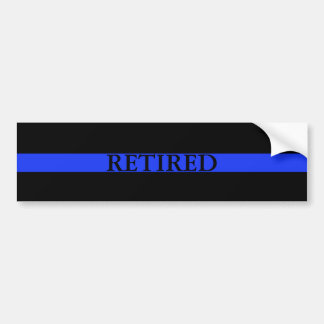 Police Thin Blue Line Retired Bumper Sticker