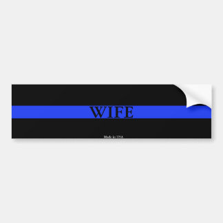 Police Thin Blue Line Wife Bumper Sticker