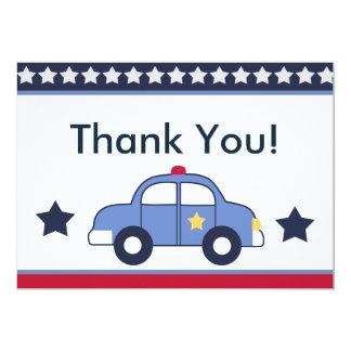 Police Vehicle/Cop Car Hero Thank You Cards 13 Cm X 18 Cm Invitation Card