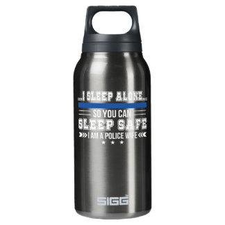 Police Wife Sleep Alone You Can Sleep Safe Insulated Water Bottle