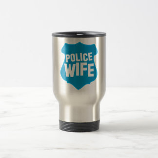 Police WIFE with officers badge shield Travel Mug