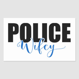 Police Wifey Rectangular Sticker