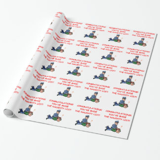 police wrapping paper