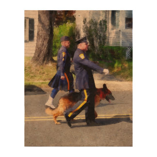 Policeman and Police Dog in Parade Cork Fabric