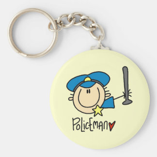 Policeman Occupation Key Ring