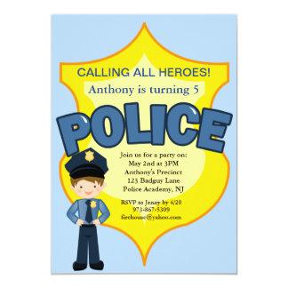 Policeman Rescue Heroes Birthday Invitation