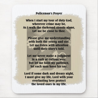 Policeman's Prayer Mouse Pad